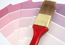 Purple Paint Samples Stock Images