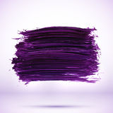 Purple paint texture stain with shadow Stock Images