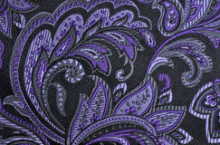 Purple paisley Stock Photo