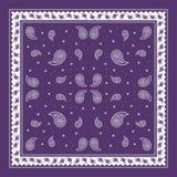 Purple Paisley Bandana simple pattern Stock Image