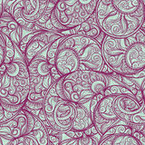 Purple Paisley Pattern Stock Photos