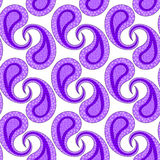 Purple paisley seamless geometric pattern Royalty Free Stock Photo