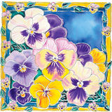 Purple pansies royalty free illustration