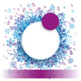 Purple Paper Circles Snowflakes Banner Royalty Free Stock Photo