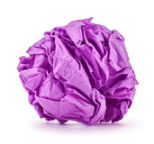 Purple paper folded balloon Royalty Free Stock Photography