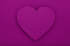 Purple paper heart with shadow Royalty Free Stock Photos