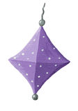 Purple paper lantern Stock Photos
