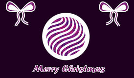 Purple paper Merry christmas wish Royalty Free Stock Photo