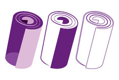 Purple paper roll. Vector illustration purple paper roll Stock Photography