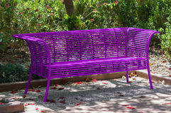 Purple park Bench Stock Photos
