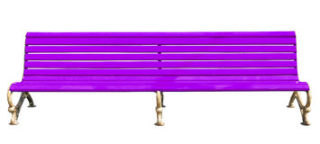 Purple park bench Stock Photo