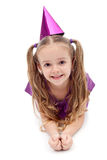 Purple party girl Stock Photos