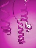 Purple Party Streamer Stock Photos