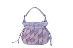 Purple pastel colored suede handbag Royalty Free Stock Photography