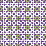 Purple Pattern. Floral pattern designed with complimentary colors Royalty Free Stock Photography
