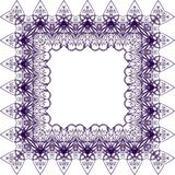 Purple lace pattern royalty free stock images