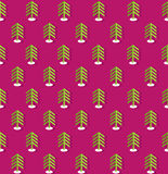 Purple pattern with fir trees Royalty Free Stock Image