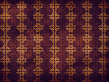 Purple pattern with yellow flowers Stock Images