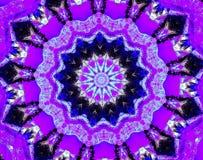 Purple Patterns Mandala Kaleidoscope Design. A purple kaleidoscope design mande from trees in a forest Stock Photo