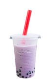 Purple pearl milk tea Stock Photo
