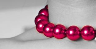 Purple pearls Stock Photography