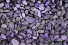 Purple pebbles Stock Photo