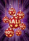 Purple percent balls vertical Stock Images