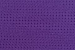 Purple Perforated Artificial Leather Background Texture Stock Photo