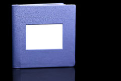 Purple photo album Stock Image