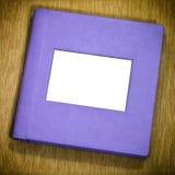 Purple photo album Royalty Free Stock Image