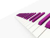 Purple piano keys rendered Royalty Free Stock Photography