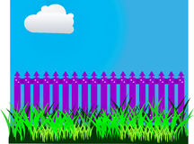 Purple picket fence Royalty Free Stock Image
