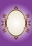 Purple Picture. Classic-looking frame purple ground Royalty Free Stock Photo