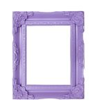 Purple  picture frames Stock Photos