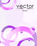 Purple and pink abstract background. From round geometric shapes royalty free illustration