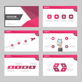 Purple pink Abstract Brochure report flyer magazine presentation element template a4 size set for advertising marketing website Stock Photography