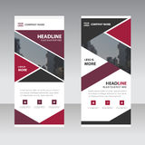Purple pink abstract triangle Business Roll Up Banner flat design template ,Abstract Geometric banner template Vector illustration Stock Image