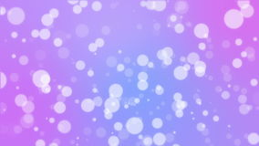 Purple pink blue bokeh lights animated background. Abstract holiday background with white bokeh lights flickering on purple pink blue gradient backdrop stock video