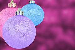 Purple pink blue christmas balls Stock Photo