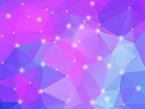 Purple pink blue geometric background with lights Royalty Free Stock Photo