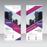 Purple pink Business Roll Up Banner flat design template ,Abstract Geometric banner Vector illustration Royalty Free Stock Photo