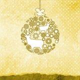Purple and pink Christmas ball. EPS 8 Stock Images