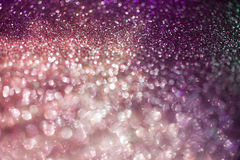 Purple and pink defocused bokeh background Stock Images