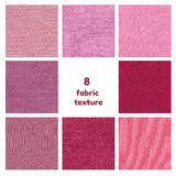 Purple and pink fabric texture. Stock Photography