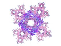 Purple pink floral pattern in the form of a fractal Stock Images