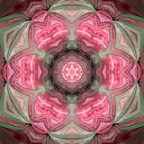 Purple pink floral tile mandala effect triangle mosaic glass. Purple pink tile mandala effect triangle mosaic glass Stock Photo