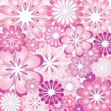 Purple and Pink Flowers Vector Illustration