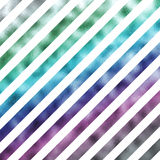 Purple Pink Green Metallic Faux Foil Holographic Diagonal Stripes Stock Photo