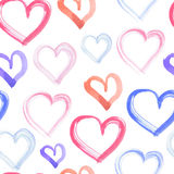 Purple and pink heart, watercolor element for design Royalty Free Stock Images