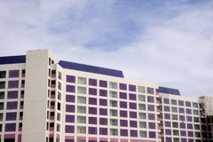 Purple and Pink Hotel Stock Image